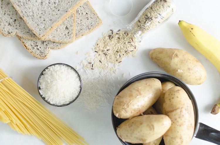パスタやパンなどの炭水化物