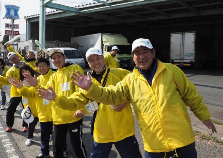 マラソン大会の応援