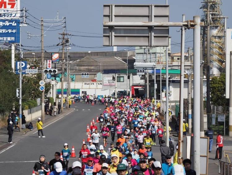 マラソンの19キロ地点