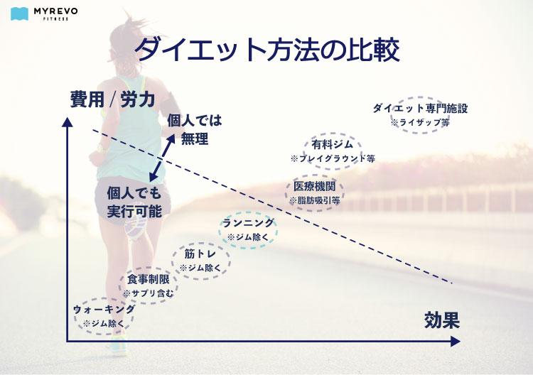 ダイエット方法の比較の図