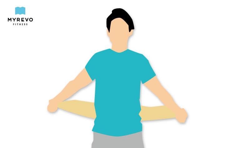 あまり肩を上げられない方向けのタオル用メニュー