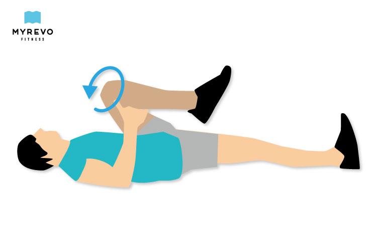 寝ながら股関節ストレッチエクササイズ系