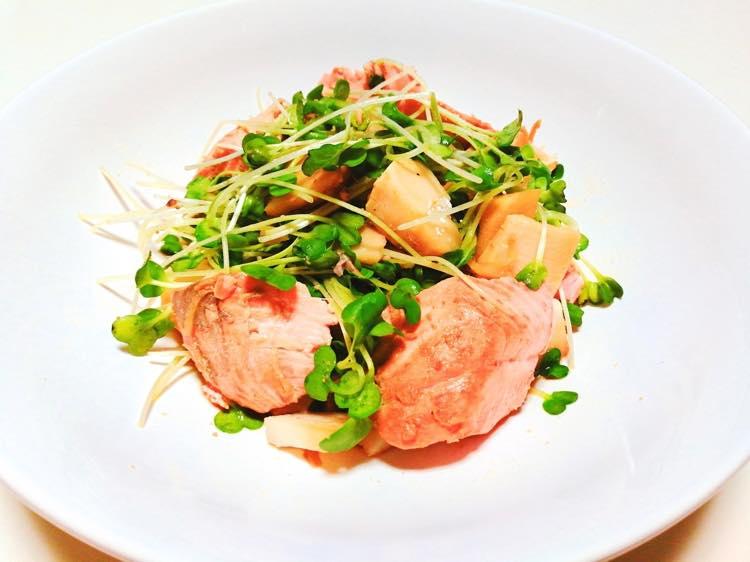 ライザップ食事例:鮭とたけのこの山椒焼き