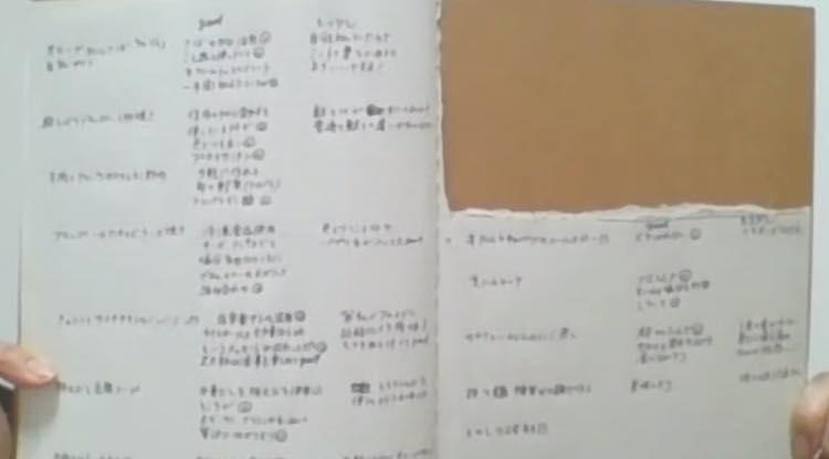 ジョーさんのレシピを柳井さんが評価したノート
