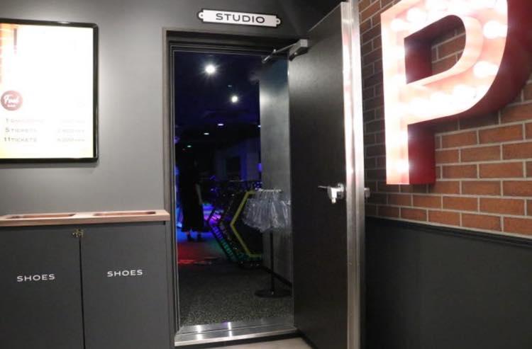 スタジオの入り口