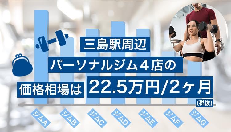 三島駅周辺のパーソナルジム価格相場
