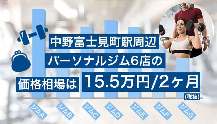 中野富士見町エリアのパーソナルナルジムの価格相場