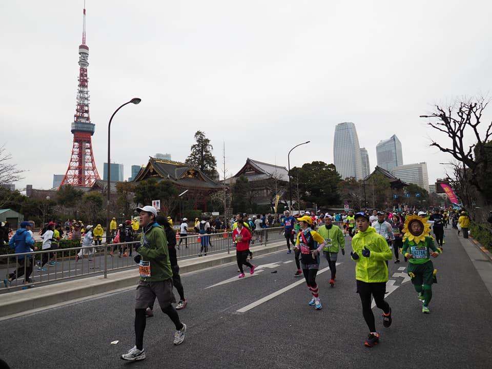 東京マラソンの時の東京タワー