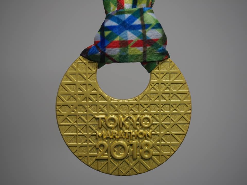 東京マラソンの大会メダルの表側