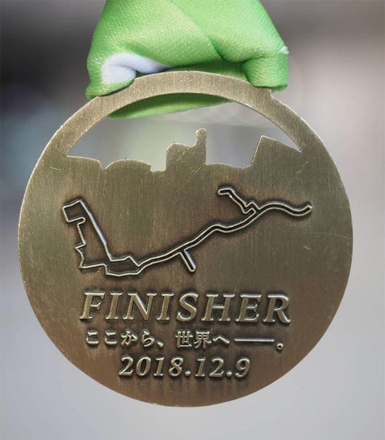 大会のメダル