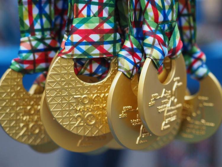 東京マラソンの大会のメダル